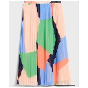 NWT Banana Republic Color Block skirt Large Tall